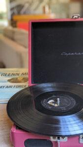 Glenn Miller record on turntable